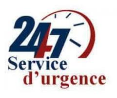 depannage urgent 24/24, 7/7.
