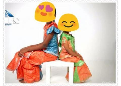 Robe bazin...ensemble bazin enfants cotonou sur yaounde